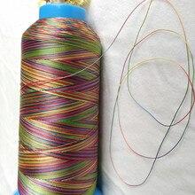 Высокая прочность стежка нить радуга цвет полиэстер 150D/3(Размер 30