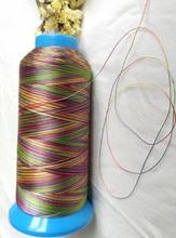 Hohe festigkeit quilten gewinde regenbogen farbe polyester 150D/3 (größe 30)