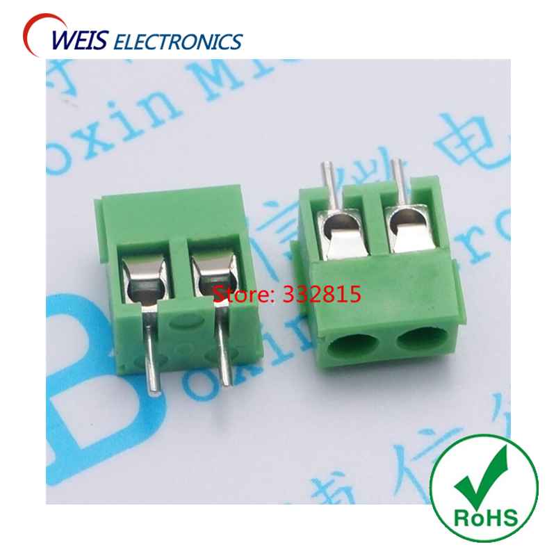 20PCS KF396 splice 3.96mm pitch connector terminal 2P 3P Green split joint KF396-2P KF296-3P ROHS Free shipping