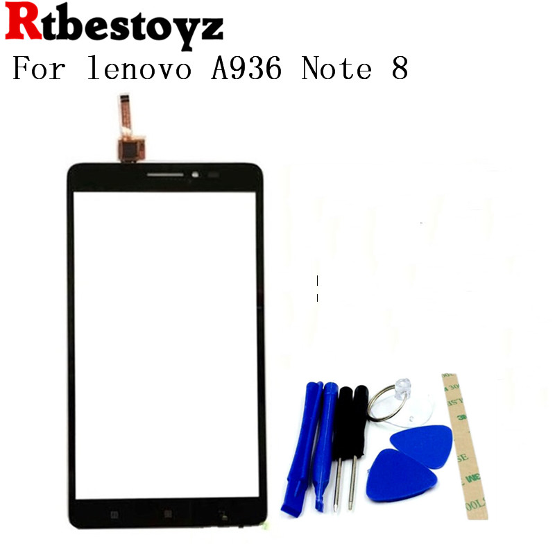 RTBESTOYZ 6.0 TOP Quality Front Glass Touch Screen Digitizer For Lenovo A936 Note 8 Note8 Mobile Phone Sensor Repair Parts