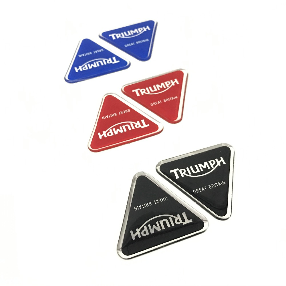 Motorcycle Sticker Racing Helmet Fit For Triumph Logo Red Blue Black