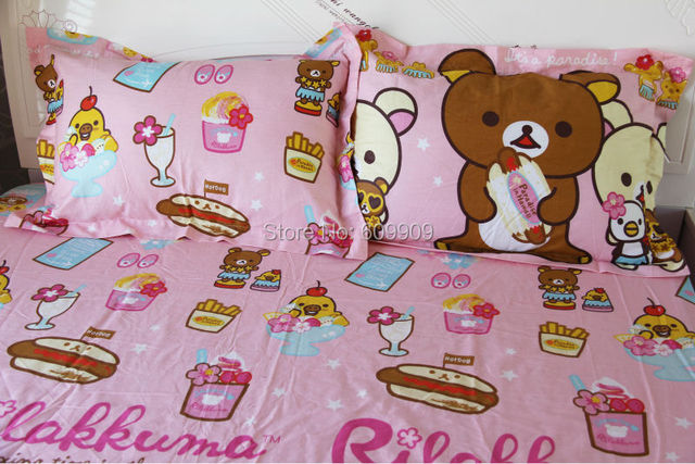 rilakkuma bedding set twin full queen girls kids boys cute bed sheets with fast - Kids Full Sheets