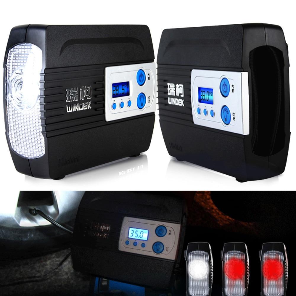 Compresseur d'air automatique de pompe de gonflage de pneu de moto de moteur de voiture de WINDEK de 12 V 100PSI avec la fonction préréglée