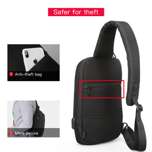 Image 2 - Kingsons Male Chest Bag Crossbody Bag Small Single Shoulder Strap Back pack Casual Travel Bags
