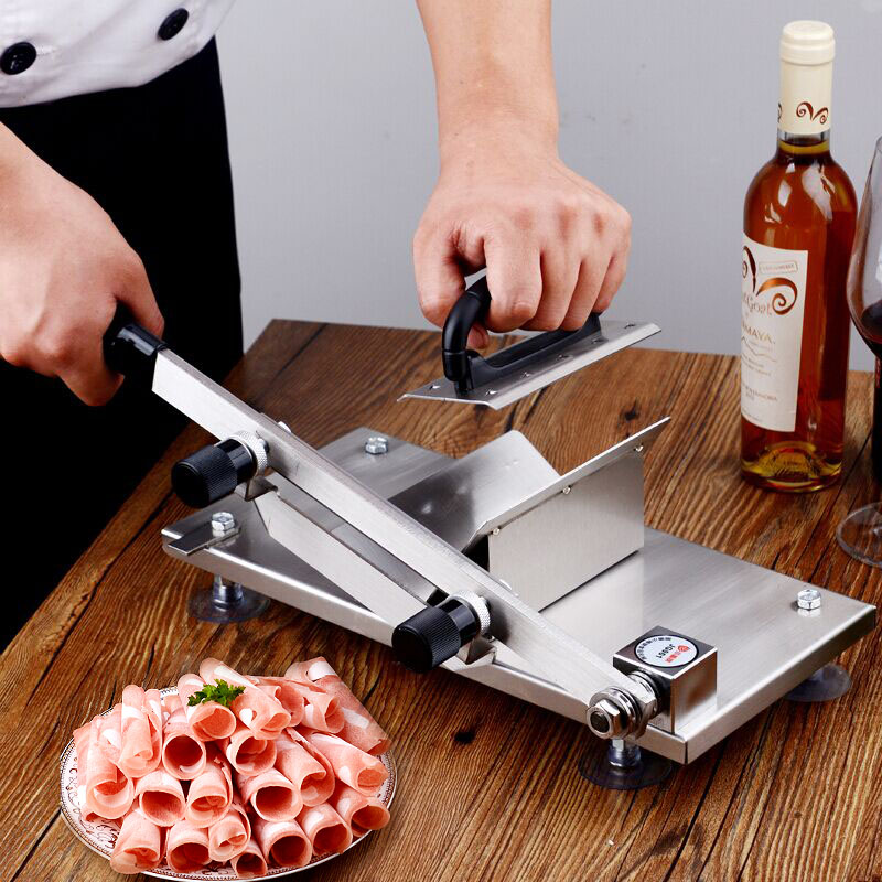 Home Lamb Meat Slicer Shabu Hot Pot Manual Mutton Roll Fat Cattle Frozen Meat Grinder Machine touch wall switch us standard 1 gang 1way rf remote control light white crystal glass panel