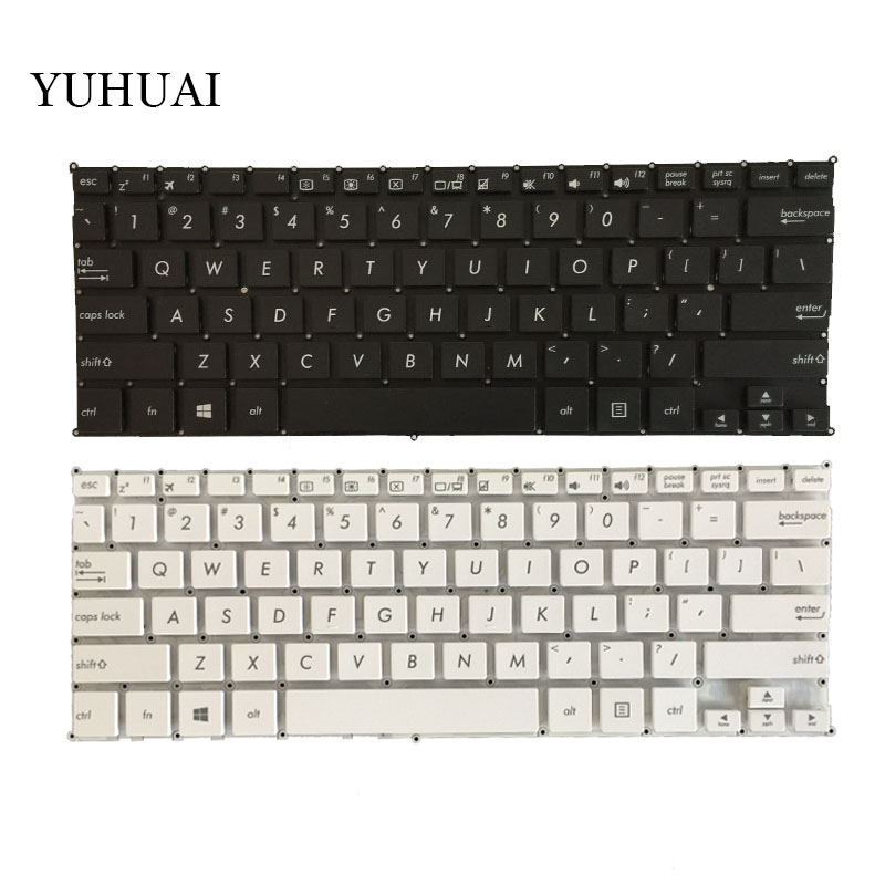 NEW English Keyboard FOR ASUS X205 X205T X205TA E202 E202S E205 E202MA TP201SA US Laptop Keyboard Black And White