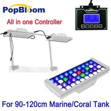 90-120cm PopBloom Aqua LED Aquarium Light Full Spectrum Lighting Reef Coral Tank SPS LPS Sunrise Sunset MJ3SP2