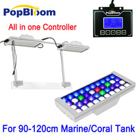90 120cm PopBloom Aqua LED Aquarium Light Full Spectrum Lighting Reef Coral Tank SPS LPS Sunrise Sunset MJ3SP2