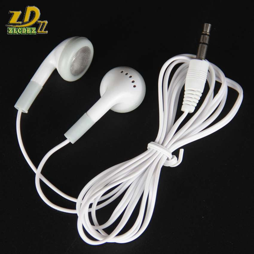 Disposable cheap white earphones low cost earbuds for Theatre/Museum/School/library/hotel/hospital Gift throwaway earset 1000pcs image