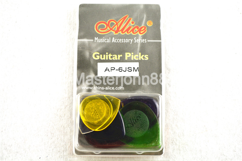 Alice AP-6JSM Durable Clear Transparent Jazz Guitar Bass Picks Plectrums 1.0/2.0/3.0mm