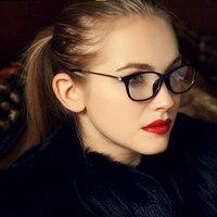 Vintage Grade Diamond Eyeglasses Eyewear Frames Women Eye Glasses Frames For Women Lady Degree Optical Eyeglass