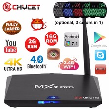 64Bit RK3328 MX9 Pro Android 7.1 TV Box Quad Core 2G 16G H.265 UHD 4 K VP9 HDR 3D Mini PC WiFi Bluetooth 4.0 Smart tv caja PK X96