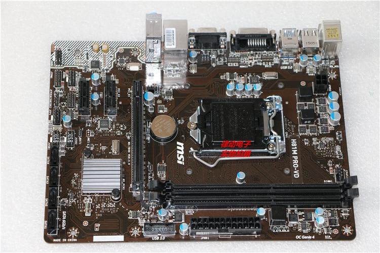 MSI H81M-PRO VD 1150 pin CPU H81 motherboard msi original zh77a g43 motherboard ddr3 lga 1155 for i3 i5 i7 cpu 32gb usb3 0 sata3 h77 motherboard
