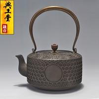 2016 Cast Iron Tea Pot No Coating Japanese Kung Fu Tea Set Handmade Japan Ancient Pattern Pot With Filter Hot Sale