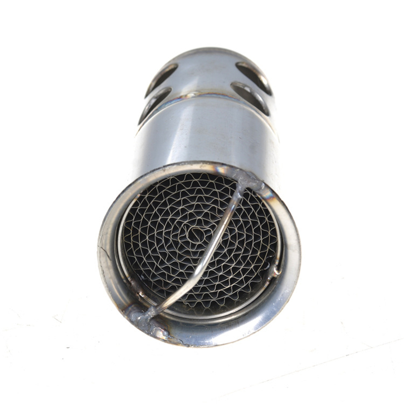 50 8mm Metal Motorcycle Exhaust Silver Colour DB Killer Silencer Noise Sound Eliminator for 51 mm Exhaust in Mufflers from Automobiles Motorcycles