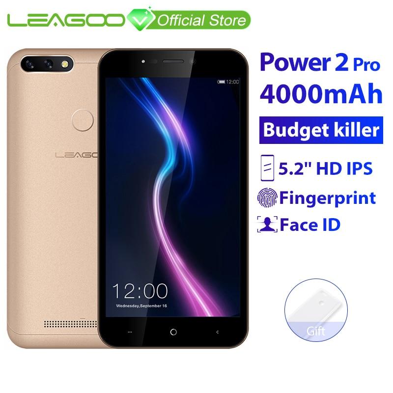 LEAGOO POWER 2 PRO 2GB RAM 16GB ROM Mobile Phone Android 8 1 5 2 4000mAh