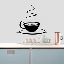 Hot Sale Coffee Removable Pvc Wall Stickers Waterproof Decals Decoration Murals