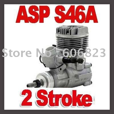 ASP 2 Stroke Two Model S46A Glow Engine ASPS46A With Muffler For RC Airplane