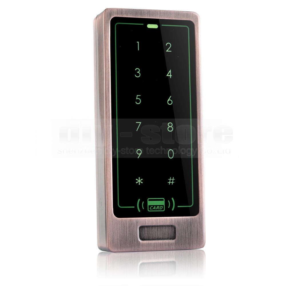 DIYSECUR 125KHz Touch Button Backlight Door Access Controller RFID Card Reader Metal Case Password Security Keypad good quality metal case face waterproof rfid card access controller with keypad 2000 users door access control reader