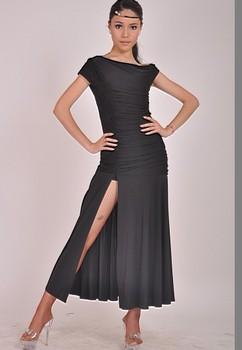 modern dance no sleeve wrapped in modern dress practice W11033
