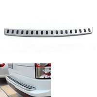 BBQ@FUKA Auto Car accessories For 2010 2016 Land Rover Discovery 4 LR4 Car Door Sill Rear Bumper Protector Guard Plate Trim