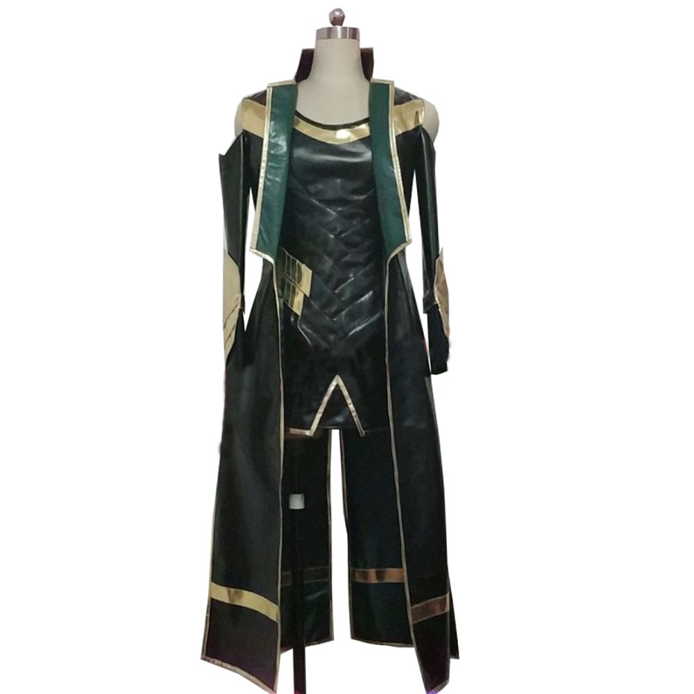 2019 Thor 3 Costume The Dark World Loki Cosplay Costume Halloween Carnival Costume Women Style Faux Leather