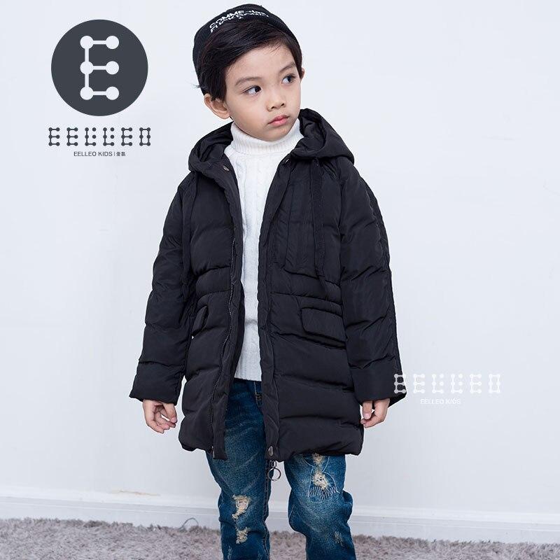 Boys Winter Jacket 2017 New Brand Hooded Kids Boy Winter Coat Long Sleeve WindProof Children Down Coat Outwear Warm 4-12 Years