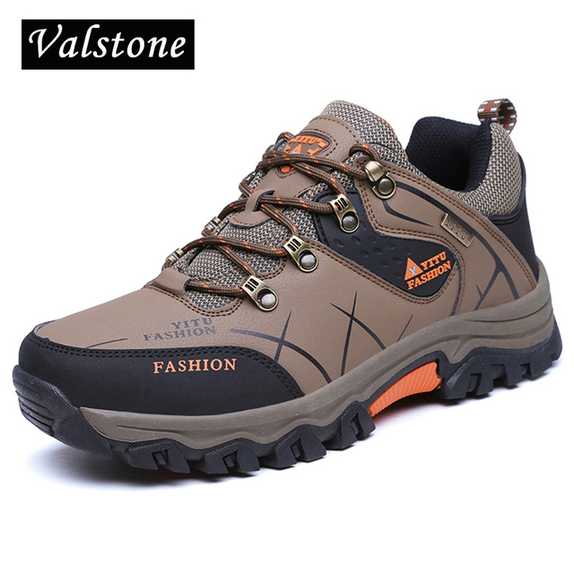 0cd44e1c25 Valstone men Quality snow boots anti-skid outdoor sneakers lace-up ankle  boots waterproof