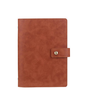 Image 5 - Yiwi A5 Business Planner Black Red Soft Pu Leather loose Leaf Binder Spiral Office Notebook With line Inner Pages