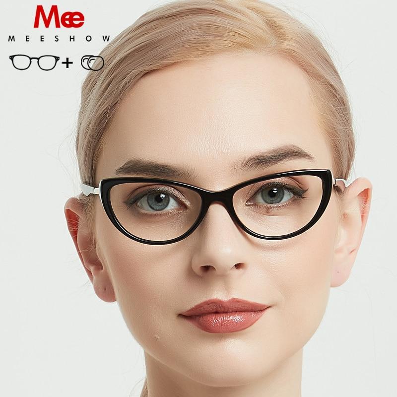 2019 Meeshow prescription glasses acetate women glasses oculos de grau feminino armacao eyeglasses vintage frame NEW