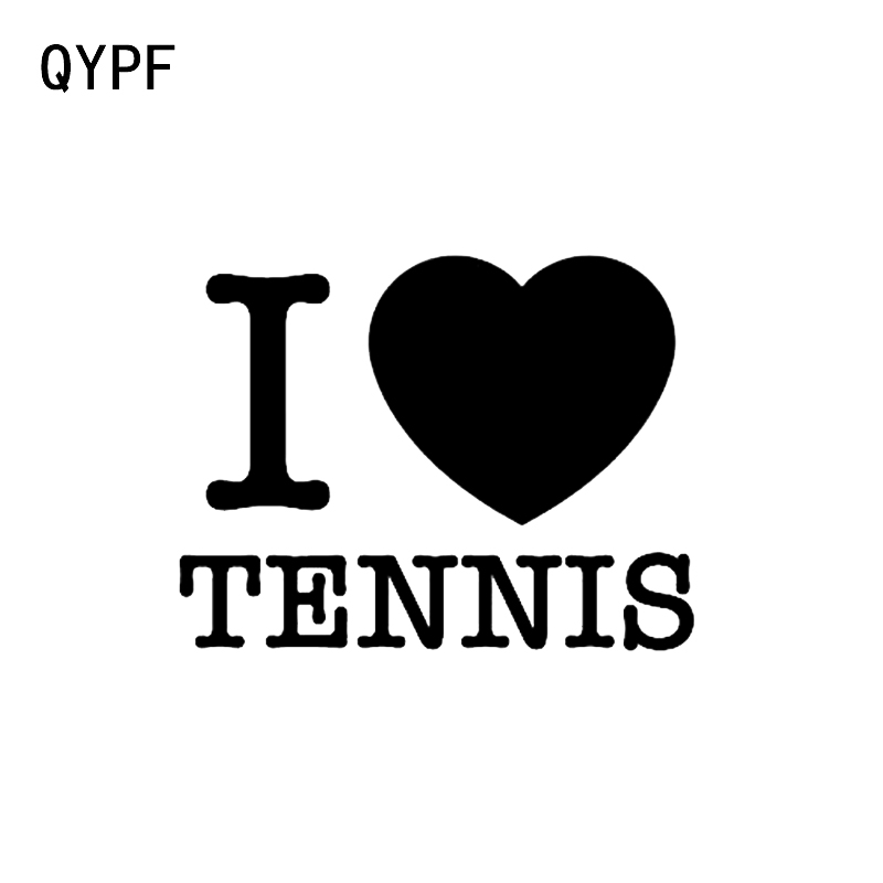 QYPF 12.5*9.6CM I Love Tennis Player Decor Car Sticker Vinyl C16-1591