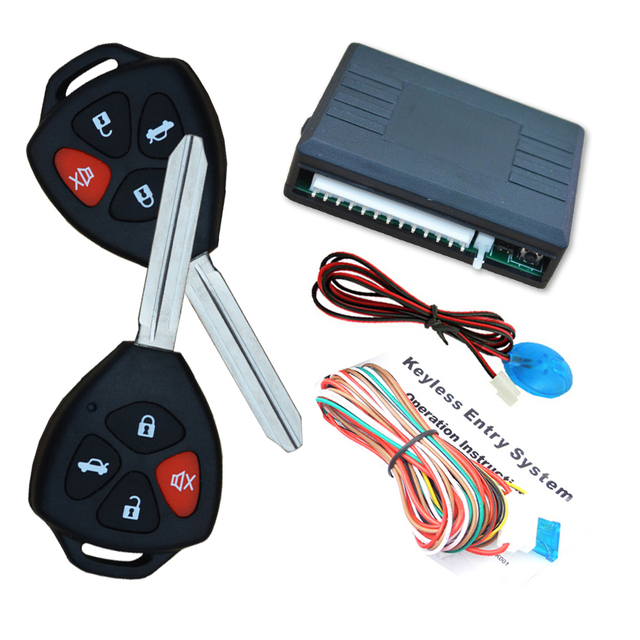 cardot Keyless entry system with 0.5/3.5 S electric lock or pump lock remote open trunk siren positive output,CE passed