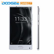Doogee MIX Silver 6GB RAM 64GB ROM 4G Smartphone 5.5 inch Android 7.0 Helio P25 Octa Core 2.5GHz Metal Body Front Fingerpr