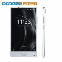 Doogee Mix серебро 6 ГБ Оперативная память 64 ГБ Встроенная память 4 г смартфон 5.5 дюймов Android 7.0 helio P25 Восьмиядерный 2.5 ГГц металла Для тела спереди fingerpr