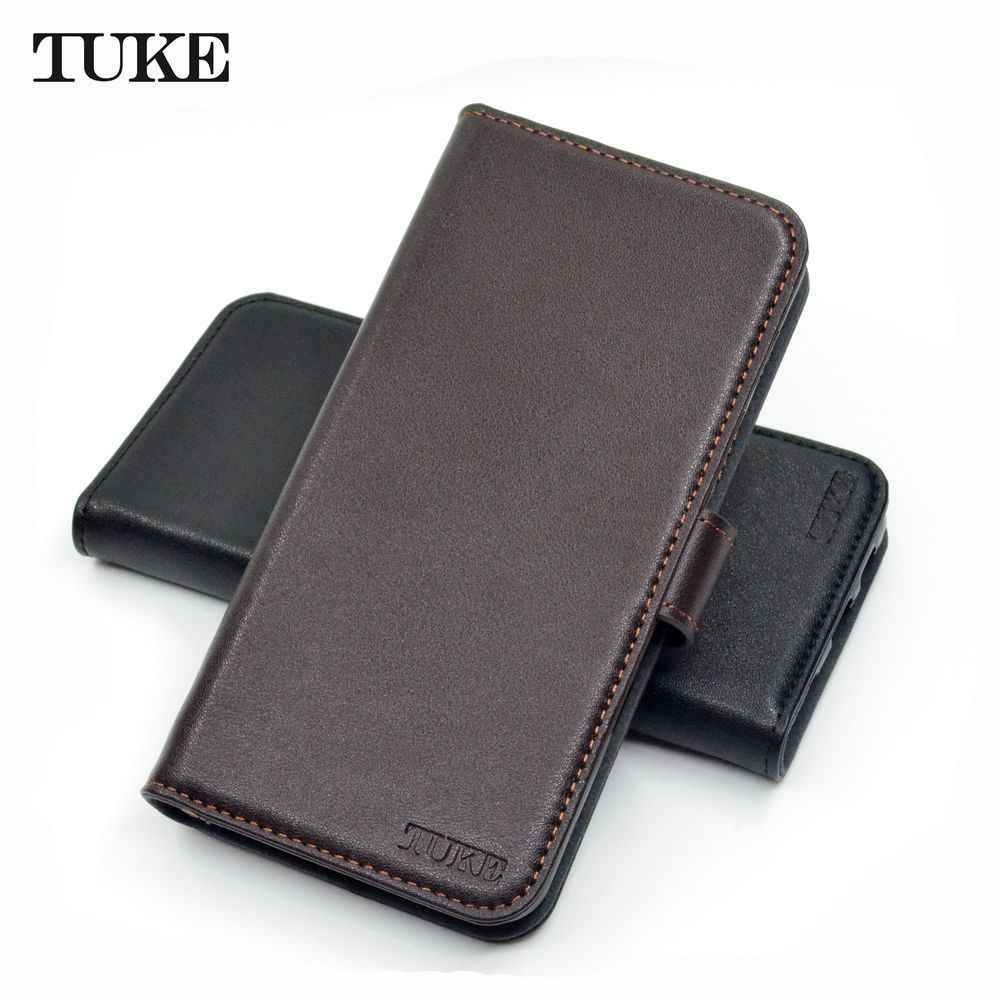 TUKE Cases For Samsung Galaxy A8 2018 A530F Cases Funda Luxury Genuine Leather Wallet Cover Phone Flip Case for A8 2018