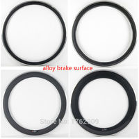 1Pcs New 700C 38 50 60 80mm Clincher Rims Road Bike 3K UD 12K Carbon Fibre