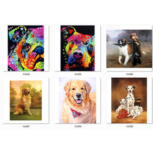 diamond painting colorful dog embroidery full package