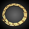 2016 New Luxury Men Gold Necklace Jewelry Hot Sale Gold Plated Fashion European Style Chain Necklace Male Jewelry N0330115