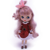 Blyth Doll BJD,Neo Blyth Doll Nude Customized Frosted Face Dolls Can Changed Makeup and Dress DIY,1/6 Ball Jointed Dolls