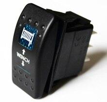 В 12 В/24 В лебедка IN/OUT мгновенный тумблер (ON) OFF (ON) DPDT/светодио дный 7Pin синий светодиод