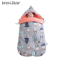 Newborn Envelope Sleeping Bag Pram Footmuffs Sleepsacks Winter Baby Swaddle Blanket Wrap Infant Baby Sleeping Bag For Stroller