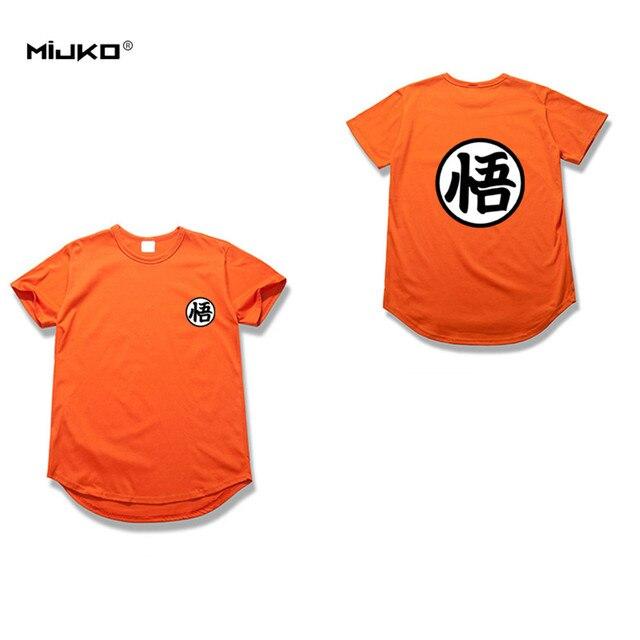 MIJKO 2017 Newest Men Cool Goku T Shirt Dragon Balls Tops Man Custom Printed Short Sleeve Tees Anime High Street Cotton T-Shirt