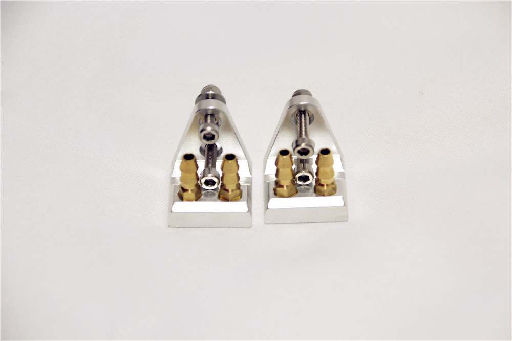 1PC Boat Stern Double Inlet Water Faucet Seat Suction Nozzle M5 Nipples Spout Taps Bracket for CAT O Boat Spare Parts