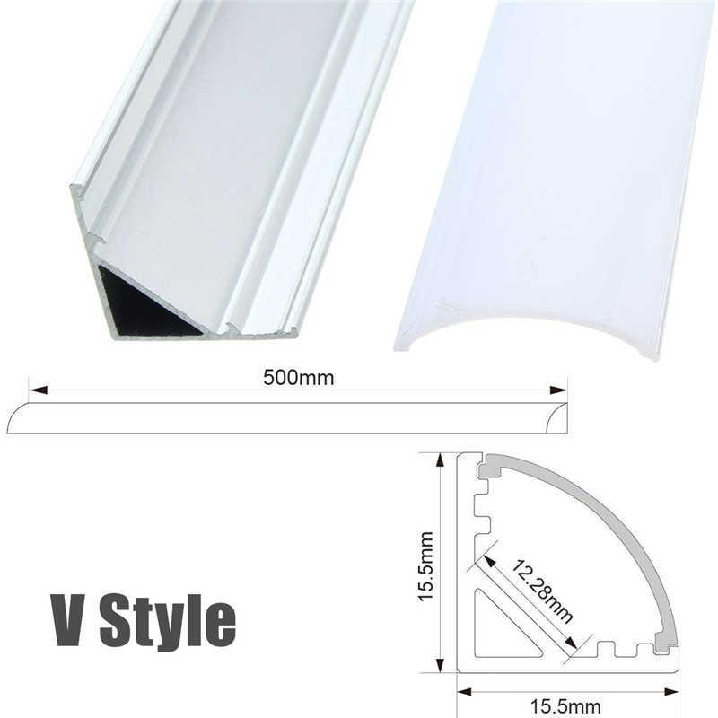 U/V/YW три стиля 50 см алюминиевый профиль для светодиодной ленты для Светодиодный полосатый свет для бара комнатный светильник кухня 1,8 см в ширину