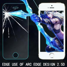 protective Tempered glass on the for iPhone5/5s glass protective film screen protector 5s mobile accessories wholesale
