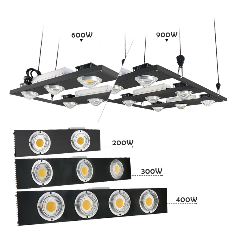 CREE CXB3590 200W 300W 400W 600W 900W COB Dimmable LED Grow Light Full Spectrum LED Growing