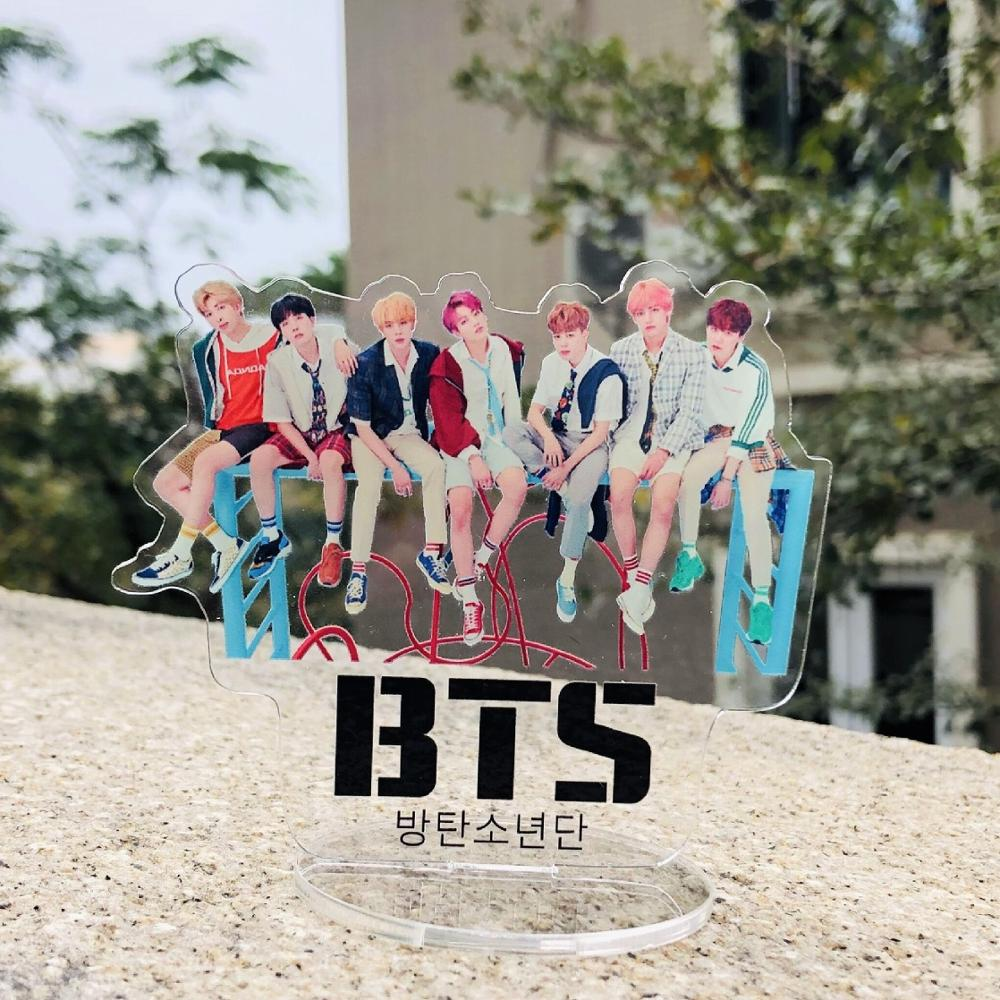 Well-Educated Creative Bts Stationery Set Bangtan Boys Acrylic Decorate Picture On The Table Bt21 Bangtan Boys Korean Supplies Activating Blood Circulation And Strengthening Sinews And Bones Office & School Supplies
