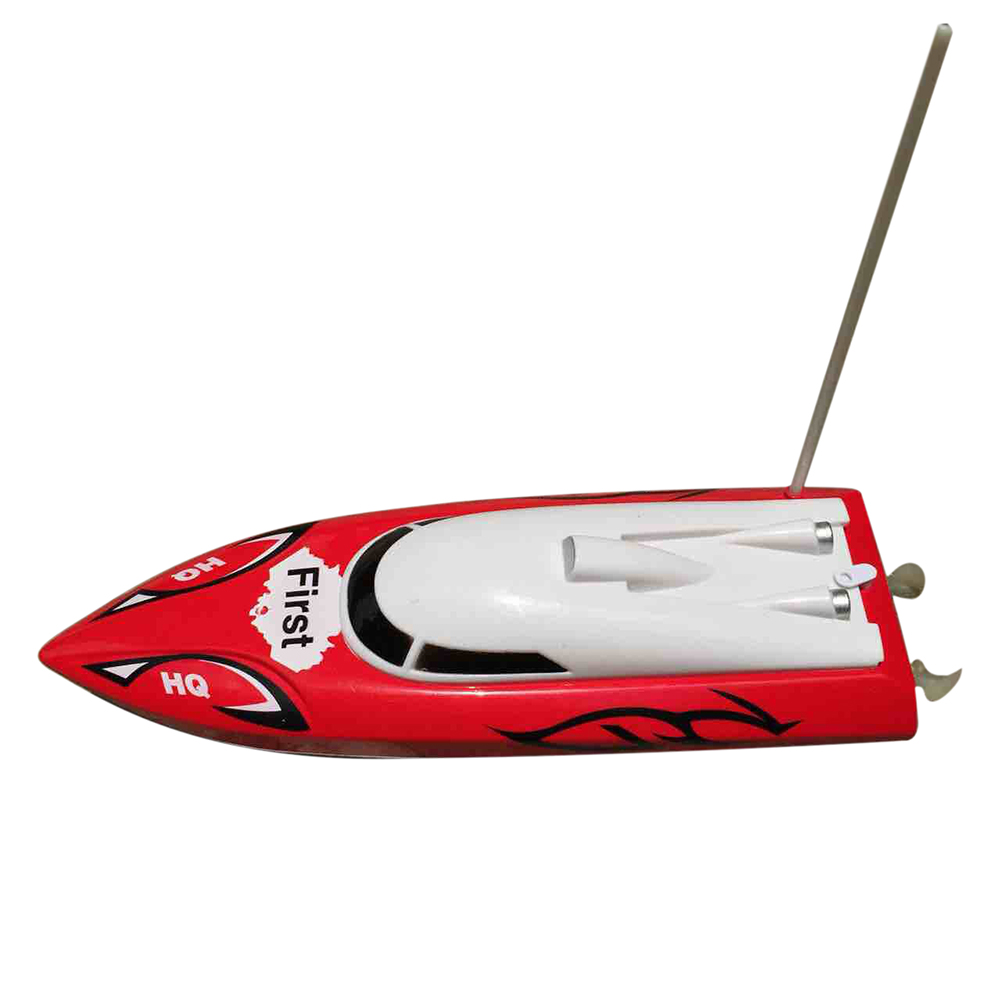 10 inch Mini RC Boat Radio Remote Control RTR Electric Dual Motor Toy Colour:Red happy cow 777 218 remote control mini rc racing boat model