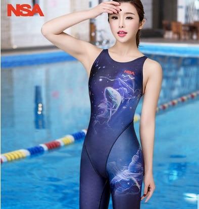 Spandex Sport Plus Size Sexy Knee Length Women Swimwear One Piece Professional Swimsuit For Lady Lycra Bodybbuild Bikini Push UP