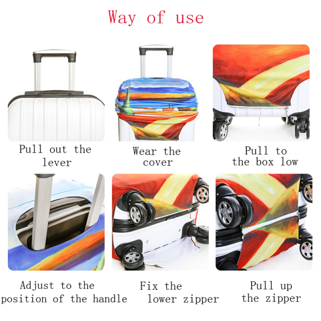Classical pattern luggage protector suitcase elastic protective covers traveling accessories Trolley case Dust for 18-32 inch